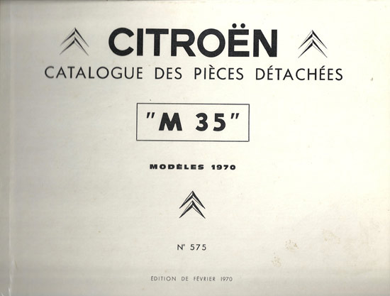 Catalogue des pieces detachees Citroen M35